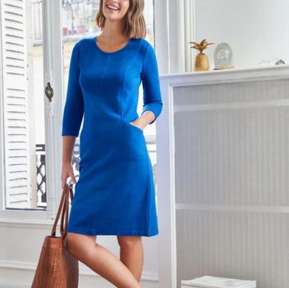 BODEN Bold Blue ELLEN OTTOMAN Dress